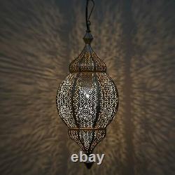 Classique Marocain Orb Lampe Lustre, Pendentif Suspendu Lanterne Lumière Plafond