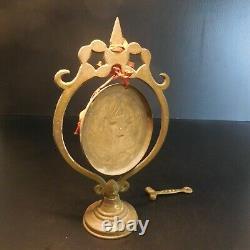 Cloche gong cuivre bronze laiton vintage art déco orient design Lampe N6070