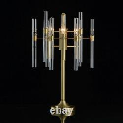 Décoratif Lampe de Table Farryn Art Déco Design En Laiton Salon