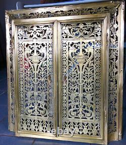 Devant de cheminée Pare Feu Art Déco Laiton / Bronze ajouré 72,5cm X 65cm