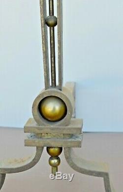 EXCEPTIONNELLE PAIRE de CHENETS MODERNISTES ART DECO BRANDT G. POILLERAT SUBES