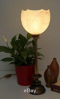 Élégant Original Art Déco Art Nouveau Lampe de Table Laiton Berlin Lampe 1930