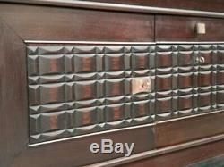 Enfilade dressoir charles dudouyt chêne laiton 1940 art deco