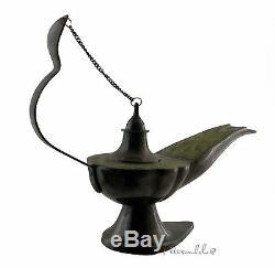 Enorme Lampe d'aladin Magique Brule Encens ou à Huile 30cm 4KG500 4645