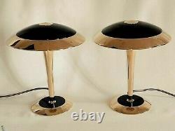 Exclusive paire de Lampes Champignon Art Déco dite Paquebot Excellent état