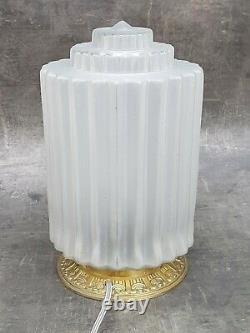 GRANDE LAMPE BUILDING MODERNISTE ART DECO SKYSCRAPER GRATTE-CIEL 1930 28 cm