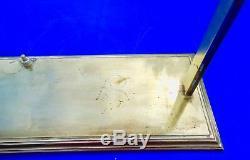 GRANDE lampe de BUREAU ART DECO, MODERNISTE, BAUHAUS, LAITON et / ou BRONZE