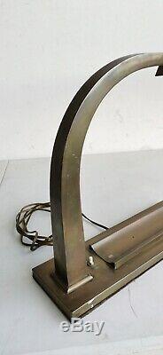 Grande LAMPE de BUREAU 1920-1930 Laiton ART DECO Plumier Design Desk Lamp Art