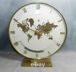 Grande Pendule Kienzle World Timer Automatic En Laiton Doré Style Moderniste