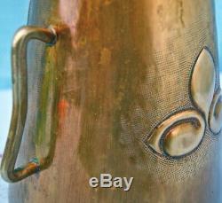 Herrade, ferreta. Devise, blason SALIES DE BÉARN. Laiton décor ciselé. H 18 cm