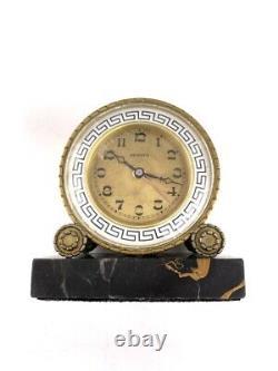 Horloge réveil mécanique ZENITH Art Déco Antique mechanical clock