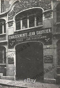 J. Gauthier Paire De Plafonniers Art Déco Skyscraper Obus En Verre Pressé 1930