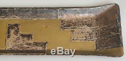 Jom Plateau, vide-poche Art DecoLaiton double patine doré et argentéca 1920