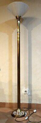 LAMPADAIRE à colonne régence empire à colonne C. 1950 en bronze laiton doré