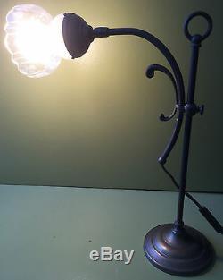 LAMPE DE SALON ou BUREAU DESIGN 1930 art déco LAITON HAUTEUR REGLABLE ORIENTABLE