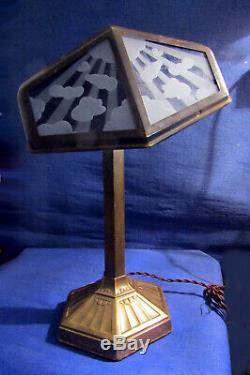 LAMPE PIROUETT Lupanar RARE MODÈLE DE SALON A VERRE NUAGÉ SOCLE ART DÉCORATIF