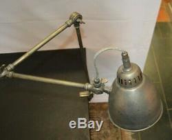 LAMPE de BUREAU ARTICULEE en LAITON avec Finition Argentée