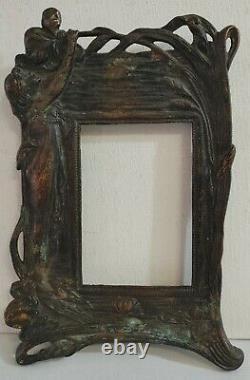 Laiton Antique Ou Bronze Art Déco Image Cadre