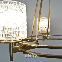 Laiton Lustre Lustre en Laiton Art Déco Lampe 5. Z