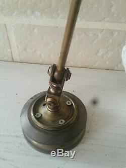 Lampe Ancienne année 20 Vintage indus marine en laiton atelier bureau