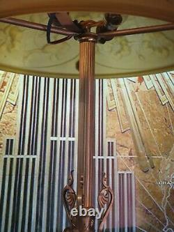 Lampe Art Déco Art Nouveau Tripod Verre Moulé (Bronze ou Laiton)