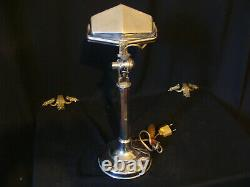 Lampe Art Déco laiton chromé Pirouett