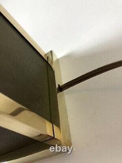Lampe Art Deco moderniste cuir laiton Jacques Adnet Hermes Clement Rousseau