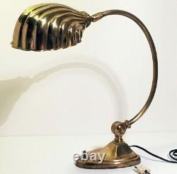 Lampe Coquillage Art Deco Brass Shell Lamp era W. A. S. BENSON Chapman 1930 1950