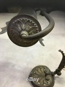 Lampe De Bureau 1900 Orientable Bronze Et Laiton