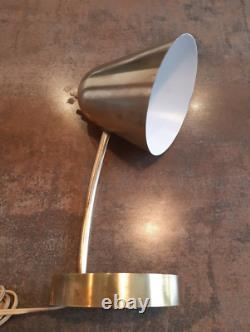 Lampe Jaques BINY desk lamp art déco design année 50 Luminalite