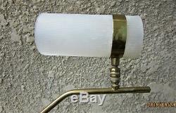 Lampe Jean-Boris Lacroix années 50 laiton et plexiglas