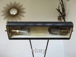 Lampe Jumo N° 71 Art Deco Laiton Et Metal Laque Annees 40 50