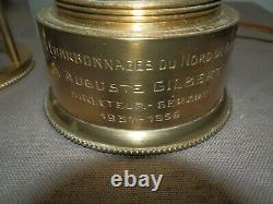 Lampe Mineur Nominative Directeur Charbonnages Nord De Gilly 1931-1956