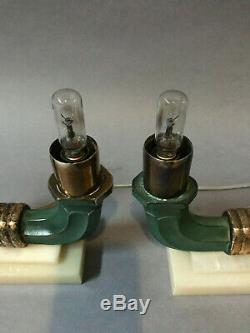 Lampe art deco a poser 1940 1950 light france luminaire lamp french