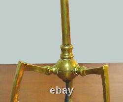 Lampe articulée tripode W. A. S Benson 1900 Art and craft articulated lamp