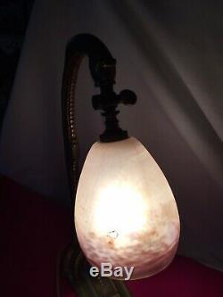 Lampe de bureau Art Déco tulipe Pâte de verre Degué