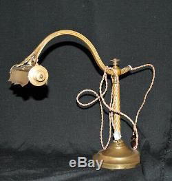 Lampe de bureau, de banquier, de notaire, de piano en laiton/bronze doré. 1900