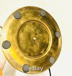 Lampe de bureau laiton doré design moderniste art déco style Eileen Gray Adnet