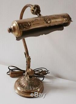 Lampe de piano en bronze et laitonDouille à baïonnetteAnnées 1910/1920
