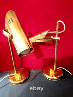 Lampe de table ou bureau en laiton bronze XX ème Art Deco