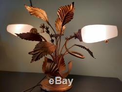 Lampe en laiton art déco végétale vintage curiosité