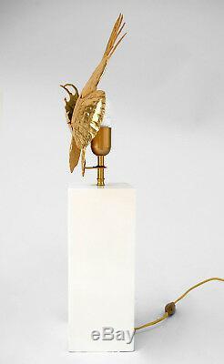 Lampe en laiton doré poisson rascasse, circa 1950