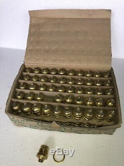 Lot 100 Ancienne Douille B22 Laiton Lampe Vintage Boite Dorigine