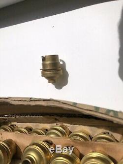Lot De 100 Ancienne Douille B22 Laiton Lampe Vintage Avec Collerette De Serrage