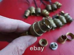 Lot De 14 anciennes douilles laiton E 14 à baïonnette lampe art déco Vintage