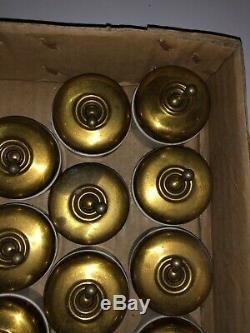Lot de 15 interrupteurs anciens porcelaine et Laiton doré Vintage Rare