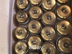 Lot de 20 interrupteurs anciens porcelaine et Laiton doré Vintage Rare (lot 3)