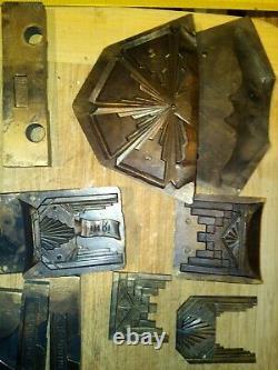 Lot de Moules en Bronze ou laiton art nouveau art déco rare