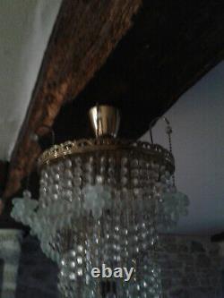 Lustre A Pampille Art Deco