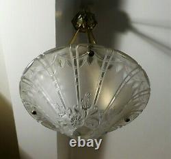 Lustre vasque Art Déco LORRAIN NANCY / DAUM 1925 ERA MULLER